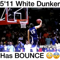 Memes, 🤖, and Jacobs: 5111 White Dunker  HOOPMIXTAPECOM  Has BOUNCE Jacob Tucker has BOUNCE 😳😨 - Follow me @boldmixes for more!