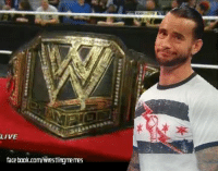 CM Punk Is Not Impressed with your new title: LIVE  facebook.com/Wrestlingmemes CM Punk Is Not Impressed with your new title