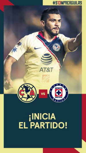 1' // Underway at Estadio Azteca!:  #513MPREAGUILAS  AT&T  DEPORTIVO  C A  VS  CRUZA  INICIA  EL PARTIDO! 1' // Underway at Estadio Azteca!