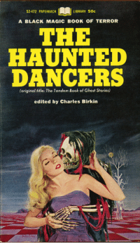 "Boner, Tumblr, and Black: 52-472 PAPERBACK  LIBRARY 50c  A BLACK MAGIC BOOK OF TERROR  THE  HAUNTED  DANCERS  (original title: The Tandem Book of Ghost Stories)  edited by Charles Birkin <p><a href=""http://michaelallanleonard.tumblr.com/post/128333087638/victor-kalin-1967"" class=""tumblr_blog"">michaelallanleonard</a>:</p><blockquote><p>Victor Kalin, 1967 <br/></p></blockquote>  <p>I guess you could say he really gets a Boner.</p>"