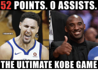 Basketball, Nba, and Sports: 52 POINTS. 0 ASSISTS  @NBAMEMES  0  Rakuten  THE ULTIMATE KOBE GAME Pure shooter 🔥