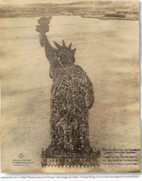 """Taken, Thank You, and Dodge: Mann &  STANDING TALL Titled """"Human statue of Liberty,"""" thie image was taken at camp Dodge inIowa and used eighteen thousand men. Thank you to those who serve and who have served to protect the freedoms we enjoy. Happy Memorial Day. 18,000 men preparing for war at Camp Dodge, via Gateway Pundit."""