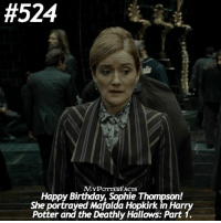 QOTD: When is your birthday? ❤️ • Fact: Happy Birthday, Sophie Thompson! She portrayed Mafalda Hopkirk in Harry Potter and the Deathly Hallows: Part 1. HappyBirthdaySophieThompson:  #524  MYPOTTERFACTS  Happy Birthday, Sophie Thompson!  She portrayed Mafalda Hopkirk in Harry  Potter and the Deathly Hallows: Part 1. QOTD: When is your birthday? ❤️ • Fact: Happy Birthday, Sophie Thompson! She portrayed Mafalda Hopkirk in Harry Potter and the Deathly Hallows: Part 1. HappyBirthdaySophieThompson