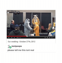 Memes, Wedding, and 🤖: 528  216  Our wedding October 27 th, 2012  text poops  please tell me this isnt real I'm crying my friend put deepthroat on the collaborative playlist ≪sam≫