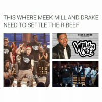 That episode would be so lit👌: THIS WHERE MEEK MILL AND DRAKE  NEED TO SETTLE THEIR BEEF  NICK CANNON  IG @Dagua That episode would be so lit👌