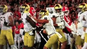 Thoughts and prayers go out to Notre Dame after this brutal injury https://t.co/Wwx9bsqXva: 53  950 Thoughts and prayers go out to Notre Dame after this brutal injury https://t.co/Wwx9bsqXva