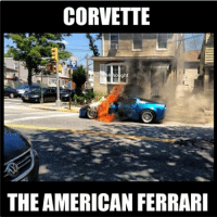 Car memes: CORVETTE  uel 4thought  THE AMERICAN FERRARI Car memes
