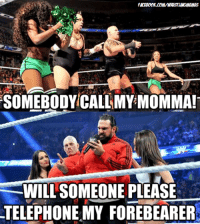 Facebook, Wrestling, and World Wrestling Entertainment: FACEBOOK .00MWWRSSTUNGMEMES  SOMEBODY CALL MY MOMMA!  WILL SOMEONE PLEASE  TELEPHONE MY FOREBEARER