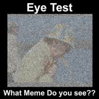 what what: Eye Test  What Meme Do you see??