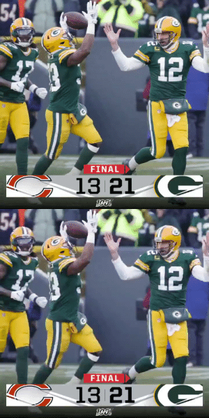 FINAL: The @packers improve to 11-3! 🧀 #GoPackGo #CHIvsGB https://t.co/ZAy2qChwfG: 54  FINAL  13 21 (C  12   54  α  FINAL  13 21 (C  12 FINAL: The @packers improve to 11-3! 🧀 #GoPackGo #CHIvsGB https://t.co/ZAy2qChwfG