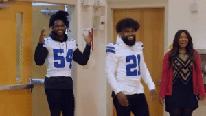 Family, Life, and Memes: 54 .@FordTrucks and @DallasCowboys players @EzekielElliott and @thejaylonsmith gave a huge Thanksgiving surprise to one Dallas family at the Salvation Army Family Life Center. https://t.co/r7INmBd5zX