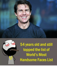 handsome face: 54 years old and still  topped the list of  World's Most  Handsome Faces List