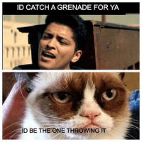 hehe wink emoticon  Join Animal Memes.: ID CATCHA GRENADE FOR YA  ID BE THE ONE THROWING IT hehe wink emoticon  Join Animal Memes.