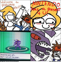Admittedly, it was quite odd starting the game with Genesect http://whatdoumeme.com/meme/wq8jhe: Welcome to  Receiving your sift.  Don't turn off the power.  Brought Bisp Facebook com/PolkemonMemes  present  WhatDoUMeme com Admittedly, it was quite odd starting the game with Genesect http://whatdoumeme.com/meme/wq8jhe