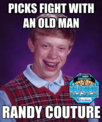 CLICK--> MMA Memes & LIKE us on Facebook Follow us on Twitter @MMA_Memes: PICKS FIGHT WITH  AN OLD MAN  Memes  if facebook  RANDY COUTURE CLICK--> MMA Memes & LIKE us on Facebook Follow us on Twitter @MMA_Memes