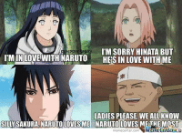 That sums up the romance in Naruto - Deidara of the swag: I'M SORRY HINATA BUT  IpSTE  IMIN LOVE WITH NARUTO  HESIN LOVE WITH ME  LADIES PLEASE, WE ALL KNOW  SILLY SAKURA NARUTO LOVES ME NARUTO LOVES METHE MOST  iMametenler That sums up the romance in Naruto - Deidara of the swag