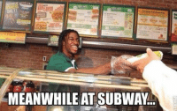 RGIII's new starting position. LIKE US @ NFL Memes: DAILY!  9melet Sandwiches  ea  MEANWHILE AT SUBWAY. RGIII's new starting position. LIKE US @ NFL Memes