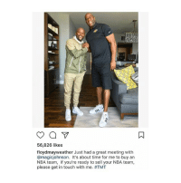 Memes, Nba, and Wshh: 56,826 likes.  floydmayweather Just had a great meeting with  @magicjohnson. It's about time for me to buy an  NBA team, if you're ready to sell your NBA team,  please get in touch with me. ATMT Looks like FloydMayweather wants to buy an NBA team 👀💰 @floydmayweather WSHH