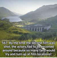 Credit to @lovegreatbritain for this lovely photo of the Glenfinnan Viaduct up in the Highlands, you should go and check out their location map because it's really awesome! I know I've said it a few times but visiting filming locations has to be one of the best experiences as a Potterhead! Qotd - Which are your favourite filming locations? Carina Mae x Fc - 87.5k @maelovesbooks @carinapotter: 567. By the time the second film was  shot, the actors had to be escorted  around because so many fans would  try and turn up at film locations! Credit to @lovegreatbritain for this lovely photo of the Glenfinnan Viaduct up in the Highlands, you should go and check out their location map because it's really awesome! I know I've said it a few times but visiting filming locations has to be one of the best experiences as a Potterhead! Qotd - Which are your favourite filming locations? Carina Mae x Fc - 87.5k @maelovesbooks @carinapotter