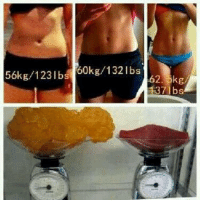 Gym, Memes, and Fat: 56kg /123lbs  60kg/132 lbs  lbs Putting the whole fat/muscle weight theory into perspective. Scales lie.   Gym Memes