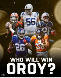 Memes, Nfl, and Cbs: 58  WHO WILL' WIN  OROY?  NFL _______ will be the Offensive Rookie of the Year.  📺: #NFLHonors   9pm ET on CBS https://t.co/uBIPm85pJH