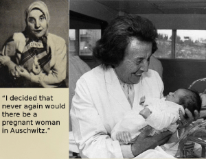 "webbgirl34:  thebigsisteryouneveraskedfor:  Gisella Perl was forced to work as a doctor in Auschwitz concentration camp during the holocaust. She was ordered to report ever pregnant women do the physician Dr. Josef Mengele, who would then use the women for cruel experiments (e.g. vivisections) before killing them. She saved hundreds of women by performing abortions on them before their pregnancy was discovered, without having access to basic medical supplies. She became known as the ""Angel of Auschwitz"". After being rescued from Bergen-Belsen concentration camp she tried to commit suicide, but survived, recovered and kept working as a gynecologist, delivering more than 3000 babies.  I want to nail this to the forehead of every anti-abortionist who uses the word ""Holocaust"" when talking about legal abortions. : 5909  ""I decided that  never again would  there be a  pregnant woman  in Auschwitz."" webbgirl34:  thebigsisteryouneveraskedfor:  Gisella Perl was forced to work as a doctor in Auschwitz concentration camp during the holocaust. She was ordered to report ever pregnant women do the physician Dr. Josef Mengele, who would then use the women for cruel experiments (e.g. vivisections) before killing them. She saved hundreds of women by performing abortions on them before their pregnancy was discovered, without having access to basic medical supplies. She became known as the ""Angel of Auschwitz"". After being rescued from Bergen-Belsen concentration camp she tried to commit suicide, but survived, recovered and kept working as a gynecologist, delivering more than 3000 babies.  I want to nail this to the forehead of every anti-abortionist who uses the word ""Holocaust"" when talking about legal abortions."