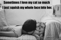 Who does this? D:  Disney Memes: Sometimes llove my cat So much  I just squish my whole faceinto her. Who does this? D:  Disney Memes