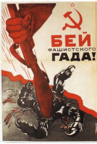 Literally a bash the fash propaganda poster from 1943: 5EH  中AWHCTCKO「。  rAA A! Literally a bash the fash propaganda poster from 1943