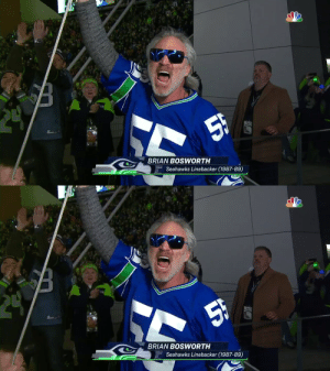 The Boz raising the 12s flag in Seattle! #Seahawks @GotBoz44 https://t.co/2grWxpw6M2: 5F  BRIAN BOSWWORTH  Seahawks Linebacker (1987-89)   24  5h  BRIAN BOSWORTH  Seahawks Linebacker (1987-89) The Boz raising the 12s flag in Seattle! #Seahawks @GotBoz44 https://t.co/2grWxpw6M2