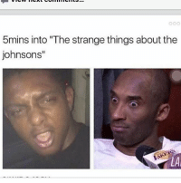 """Memes, 🤖, and  Johnsons: 5mins into 'The strange things about the  johnsons"""" dindins thestrangethingsaboutthejohnsons"""