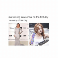 omg me: me walking into school on the first day  vs every other day  TON JOHN Aos FoUNDA  ELTON JOHNADs FoUNE  neuro  LTON XONNAos  neuro  neuro  ELTON Alos omg me