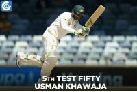 Memes, Test, and 🤖: 5TH TEST FIFTY  USMAN KHAWAJA AUS vs SA, 2nd Test, Day 3: AUS 85, 116/2 (35) | Usman Khawaja brings up his 5th Test fifty.