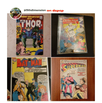 """Batman, Superman, and Marvel: @5thdimension on depoP  OURNEY INTO MYSTERY  WITH  THOR  10e  DC  THE  MIGHTY  Detective  COMICS  MARVEL  10.  122  WHERE  FOR DARING TO  INVADE MY ISLAND  BATMAN,I CAST  UPON YOU THE  CURSE OF THE  FIVE FATES  ALS  AUG. APPROVED  NO. 157 RY THE  BAT MAN  DC  AN-FEB  No.80  WORLD'S GREATEST ADVENTURE CHARACTER!  12  SUPERMAN  URERMAN  TWO BIG ADVENTURES:  WHO IS MIGHTY  ENOUGH TO PROTECT  """"Jho, HUNT FOR BATMAN'S IDENTITY!  and. """"VILLAIN OF THE YEAR!""""  'M NOT GOINGThe MAN of STEEL?  ONLY ONE PERSON--  TO LET YOU  HURT MY  'LL PROVE THAT  RMANS  Y )  LITTLE BROTHERUPERMAN'S  BATMAN IS REALLY  BRUCE WAYNE! THIS  SUPERMAN  BROTHER  MAN IS JUST AN  ACTOR IN DISGUISE  OH, BATMAN  I WAS ONLY TRYING  TO PREVENT  MIRROR MAN  FROM UN COVERING  YOUR SECRET  WHOㅆVICKI VALE  HIRED  IDENTITY!"""