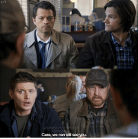 Memes, 🤖, and Winch: 6.19  DAILY WINCHE  NSTAG  Cass, we can still see you. 6.19 Besides Supernatural, what's your favorite show ?? supernatural