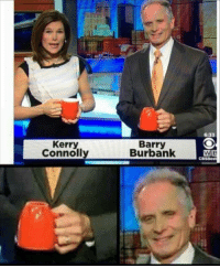 Just keep smiling: 6:33  Kerry  Connolly  Barry  Burbank  CBSBost Just keep smiling