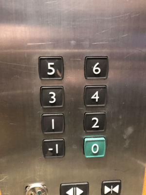 The floors on this elevator in Ireland are properly indexed.: 6.  4  2. The floors on this elevator in Ireland are properly indexed.