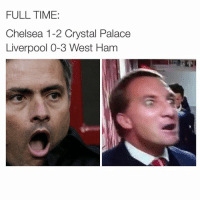 Barclays Premier League ladies and gentleman. EPL: FULLTIME:  Chelsea 1-2 Crystal Palace  Liverpool 0-3 West Ham Barclays Premier League ladies and gentleman. EPL