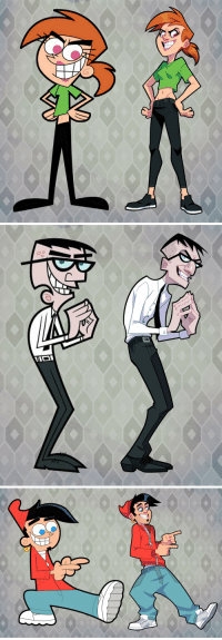Parents, Target, and Tumblr: 6 amysherrierart:  Redraw designs of a few of my favorite Fairly Odd Parents characters. Enjoy. :)