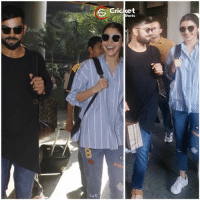 Anushka Sharma and Virat Kohli spotted together at airport today while coming back from #Goa.: 6 Cricket  Shots Anushka Sharma and Virat Kohli spotted together at airport today while coming back from #Goa.