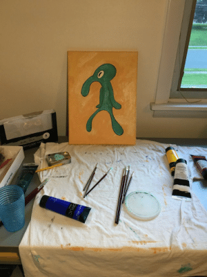 My first attempt at bold and brash: 6  CRYLIC PAINT TUBES My first attempt at bold and brash