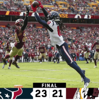Memes, Game, and Texans: 6  FINAL  23 21 FINAL: The @HoustonTexans win their 7th straight game! #Texans  #HOUvsWAS https://t.co/9W3Kc7bBFw