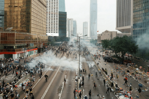 6 months ago, protesters in Hong Kong occupied around the Legislative Council Complex to stop the extradition bill. The police then used tear gas and rubber bullets in return.: 6 months ago, protesters in Hong Kong occupied around the Legislative Council Complex to stop the extradition bill. The police then used tear gas and rubber bullets in return.