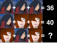 Try to solve it! madara mei naruto math mathmatics riddle puzzle anime: + + )  60?  34 Try to solve it! madara mei naruto math mathmatics riddle puzzle anime