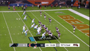 Rookie to rookie!  @WillGrier_ tosses to Elijah Holyfield for the @panthers TD! #CARvsCHI https://t.co/oidXON91bx: 60 77 89  BEAR DOWN  GSH  1ote Goal  6  10  3RD 13:08:11 1ST & Goal Rookie to rookie!  @WillGrier_ tosses to Elijah Holyfield for the @panthers TD! #CARvsCHI https://t.co/oidXON91bx