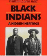 *clears through* ahem, we were native Americans: William Loren Katz  BLACK  INDIANS  A HIDDEN HERITAGE *clears through* ahem, we were native Americans