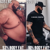 """Memes, 🤖, and The Link: 605 LBS  275 LBS  605 IG: OLEGIONS PRODUCTION  53%BODY FAT 10% BODY FAT 🔥😳EPIC TRANSFORMATION! Founder 👉: @king_khieu. Weight before: 605 lbs or 274.5 kg. Weight after: 275 lbs or 125 kg. 53% body fat to 10% body fat. Thoughts? 🤔Opinions? What do you guys think? COMMENT BELOW! Athlete: @possiblepat. TAG SOMEONE who needs to lift! _________________ Looking for unique gym clothes? Use our 10% discount code: LEGIONS10🔑 on Ape Athletics 🦍 fitness apparel! The link is in our 👆 bio! _________________ Check out our principal account: @fitness_legions for the best fitness and nutrition information! Like✅ us on Facebook👉: """"Legions Production"""" for a chance at having a shoutout. @legions_production🏆🏆🏆. . . . . . . . run running runner athlete athletes athletic sport sports calves quadzilla striations quads quad quadriceps hamstrings glutes backworkout back backday chest chestday chestworkout traps delts shoulder shoulders pecs shreds shred shredz 🔑Code: LEGIONS10."""