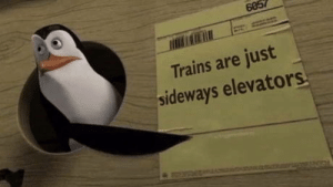 laughoutloud-club:  That sh**'s too real: 6057  Trains are just  sideways elevators laughoutloud-club:  That sh**'s too real