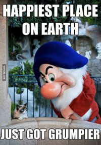 Grumpy Cat, Earth, and Got: HAPPIEST PLACE  ON EARTH  JUST GOT GRUMPER