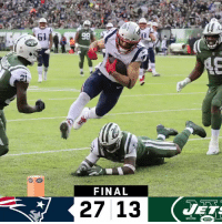 Memes, Patriotic, and 🤖: 61  21  FINAL  27 13 FINAL: The @Patriots improve to 8-3! #GoPats  #NEvsNYJ https://t.co/wWPH6ybbIs
