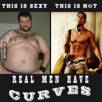 Just for Giggles: THIS IS SEXY THIS IS NOT  REAL MEN HAVE  CURVES Just for Giggles